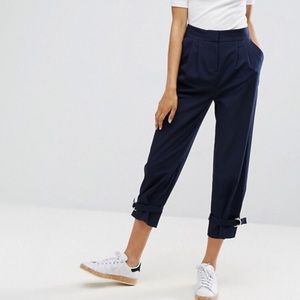 ASOS Tapered Trouser with d-ring ankle detail